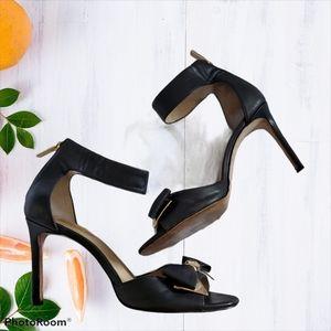 Louise Et Cie Black Leather Ankle Strap Shoes 9